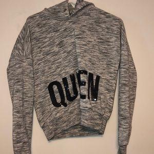 a rue21 cropped hoodie